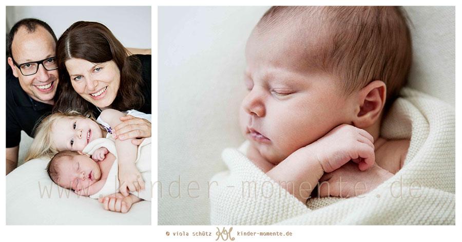 Fotoshooting Mit Neugeborenem Und Großer Schwester